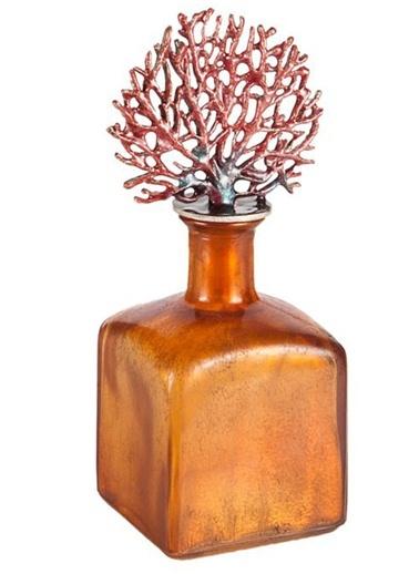 Eskitme Mercanlı Cam Şişe-Warm Design